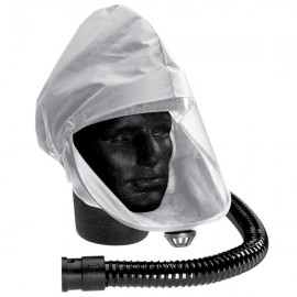 NYLON HOOD WITH PROTECTIVE VISOR