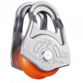 PETZL OSCILLATING PULLEY WITH MOVABLE FLANGES