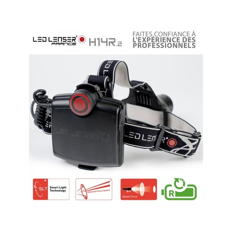 lampe frontale rechargeable h14r 2 led lenser. Black Bedroom Furniture Sets. Home Design Ideas