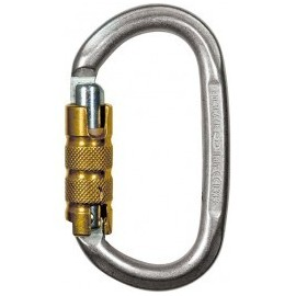 MOUSQUETON OVAL ACIER TRILOCK CLIMBING TECHNOLOGY
