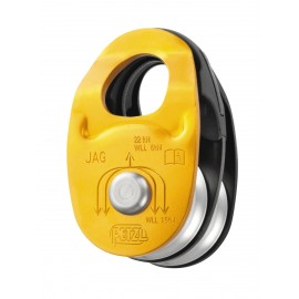 DOUBLE JAG PULLEYS WITH HIGH PETZL EFFICIENCY