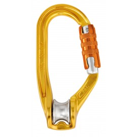 POULIE-MOUSQUETON ROLLCLIP PETZL TRIPLE ACTION
