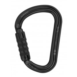 WILLIAM TRIPLE ACTION BLACK CARABINER - PETZL