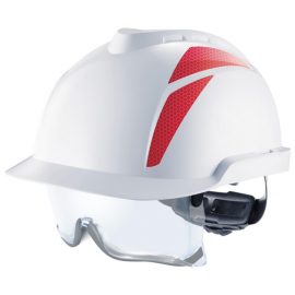 V-GARD 930 HELMETS WITH INTEGRATED CHINSTRAP GLASSES - MSA
