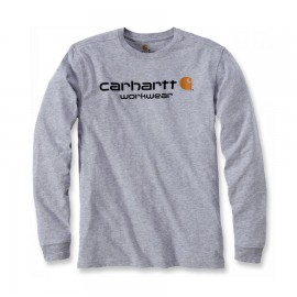 CARHARTT T-SHIRT 100% COTTON LONG SLEEVES GREY