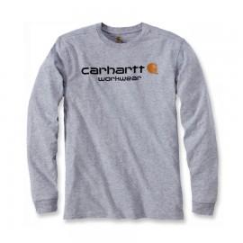 T-SHIRT CARHARTT 100% COTON MANCHES LONGUES GRIS