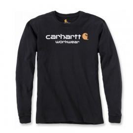 T-SHIRT CARHARTT 100% COTON MANCHES LONGUES NOIR