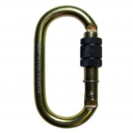 LEO STEEL SCREW CARABINER - L'EQUIPEUR