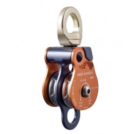 OMNIBLOCK 1.5 DOUBLE PULLEY with swivel with movable flanges