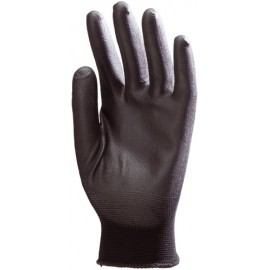 POLYAMID PROTECTIVE GLOVE BLACK COATED (10 pairs set)