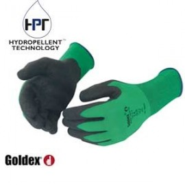 GLOVE POLYAMIDE GREEN TRICOTE GOLDEX (set of 10 pairs)