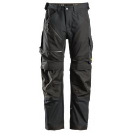 Pantalon RuffWork Canvas+ Snickers Noir avec Système KneeGuard® Pro certifié selon la norme EN 14404
