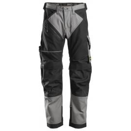 Pantalon RuffWork Canvas+ Snickers Gris Clair avec Système KneeGuard® Pro certifié selon la norme EN 14404
