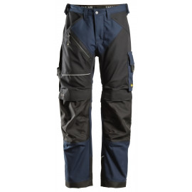 Pantalon RuffWork Canvas+ Snickers Bleu Marine avec Système KneeGuard® Pro certifié selon la norme EN 14404