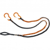 Longe porte outil extensible double avec emerillon SWHIPPY Y (remplace la réf 7W122)CLIMBING TECHNOLOGY