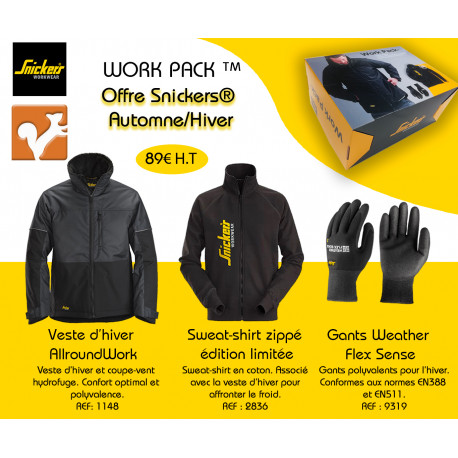 Offre Work Pack Snickers Automne Hiver