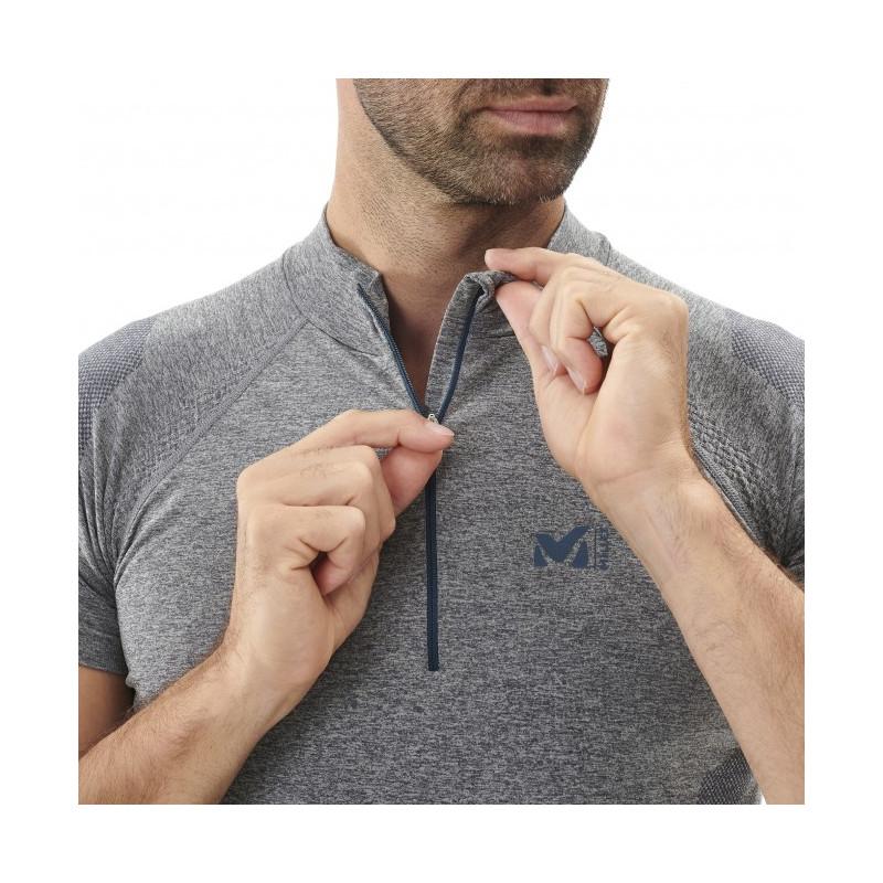 /Camiseta Zip SS tee Shirt Hombre Millet LTK/