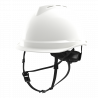 CASQUE NON VENTILE V-GARD 520 L'EQUIPEUR BLANC SANS PORTE BADGE JUGULAIRE 4 POINTS