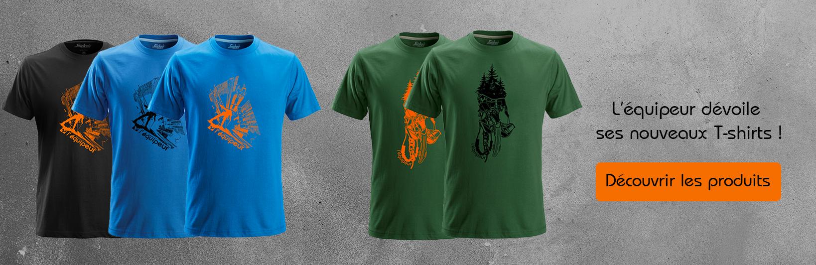 T-shirt cordistes, travaux en hauteur, élagueur, arboriste, vous trouverez le t-shirt fait pour vous